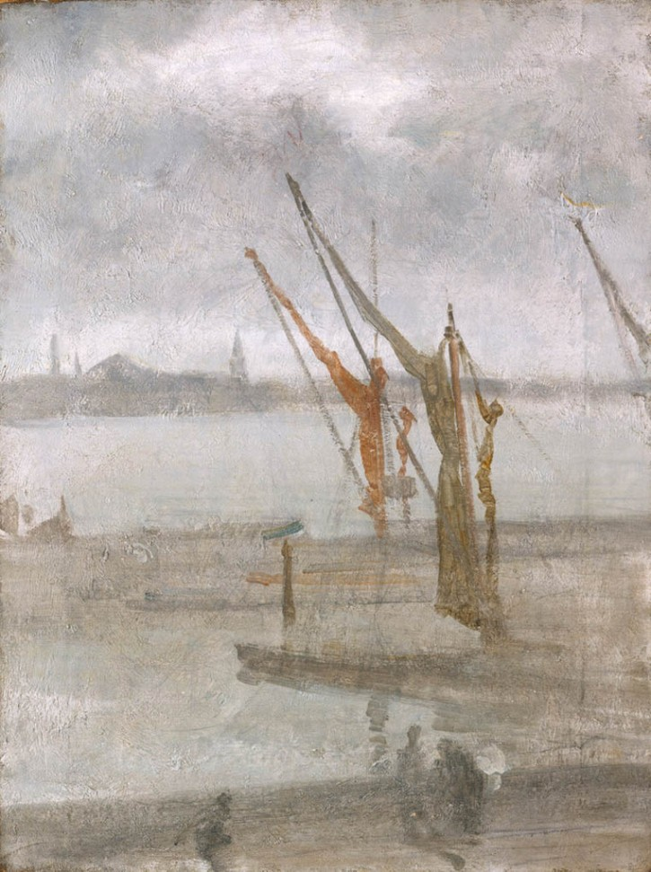 Whistler, Grey and Silver - Chelsea Wharf, 1864-1868