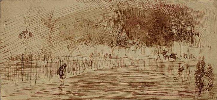 Whistler, Nocturne Chelsea Embankment 1883-1884