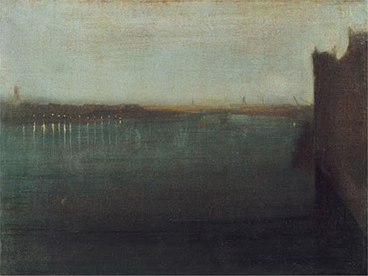 Whistler, Nocturne, Grey & Gold - Westminster Bridge