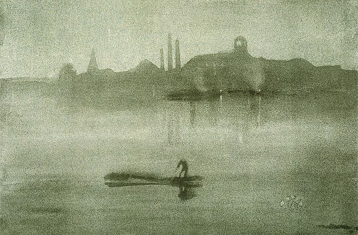 Whistler, Nocturne The Thames at Battersea, lithograph, 1878