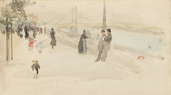 Whistler, Pink and Silver - Chelsea, the Embankment