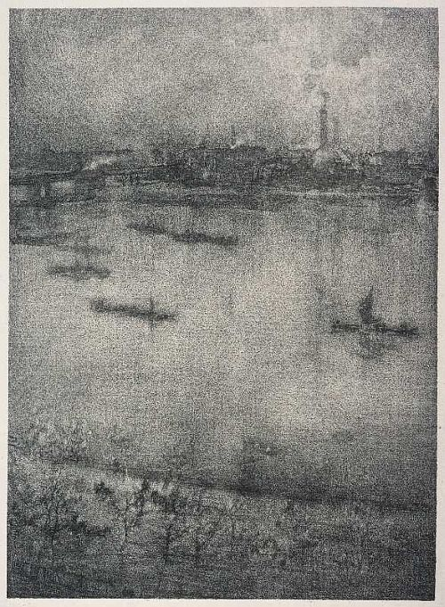 Whistler, The Thames, 1896, lithograph