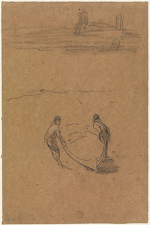 Whistler Two Men with a Boat, 1872
