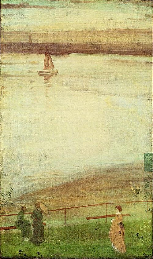 Whistler, Variations in Violet and Green, 1871