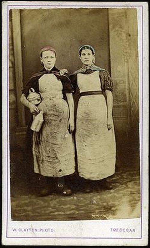 women workers iron works Tredegar 1860s 2