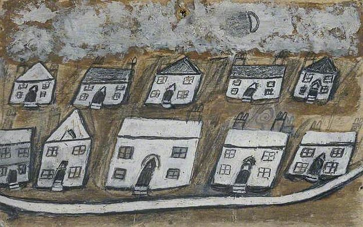 Alfred Wallis, White Houses, Hales Down, near St Ives, c1930