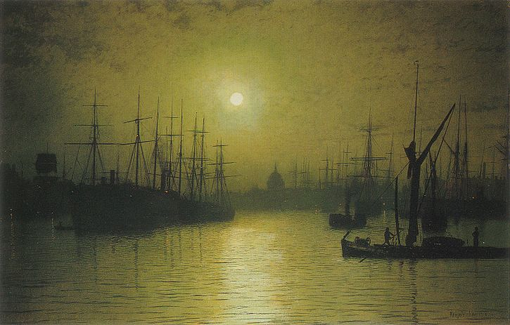Atkinson Grimshaw, Nightfall Down the Thames