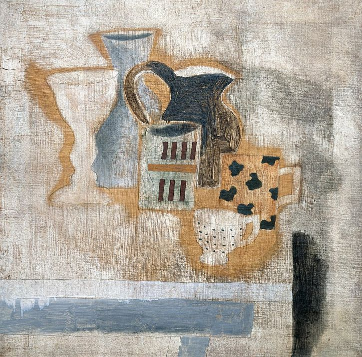 Ben Nicholson, 1925 (still life with jug, mugs, cup and goblet)