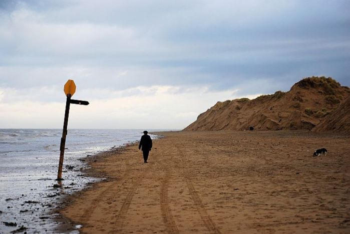 Aftermath: Formby Point after the storm