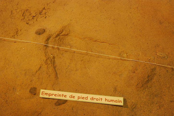 Imprint of a human foot