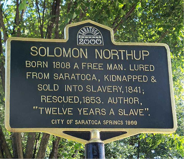 Saratoga Springs honours Solomon Northup in 1999