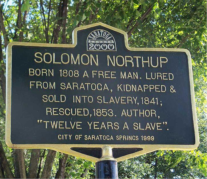 Saratoga Springs honours Solomon Northup in 1999