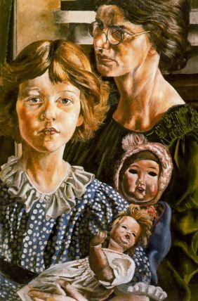 Stanley Spencer, Family Group Hilda, Unity and Dolls, 1937