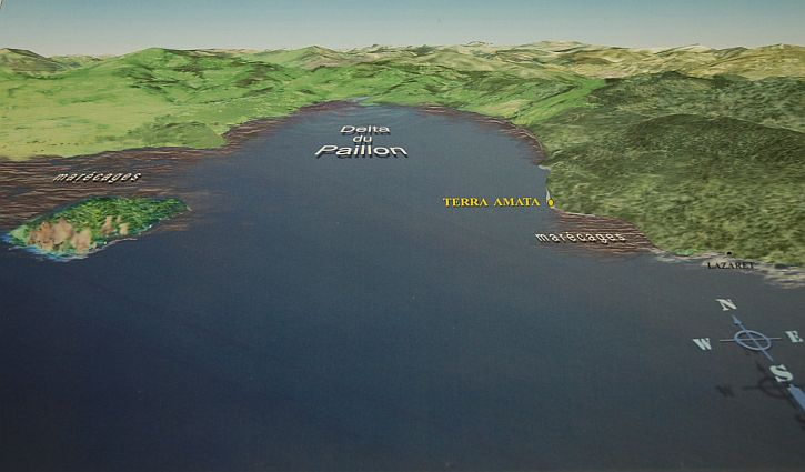 Terra Amata site 400,000 years ago