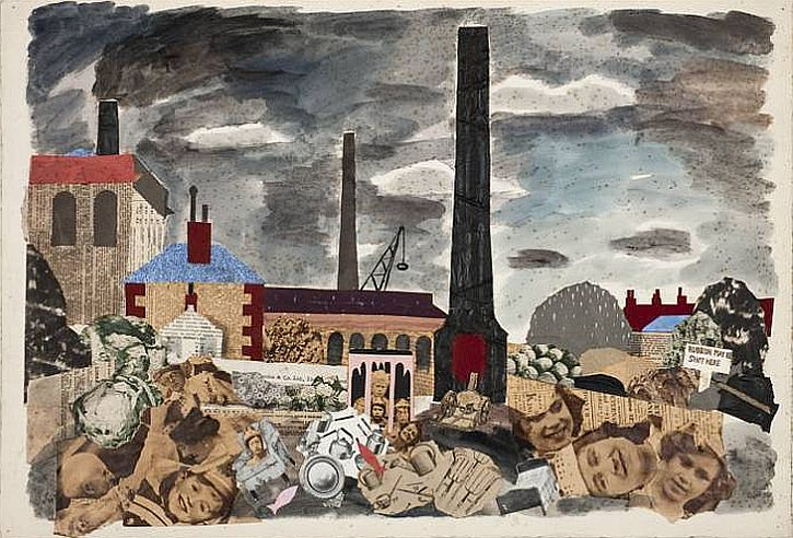 Rubbish May be Shot Here 1937 by Julian Trevelyan 1910-1988