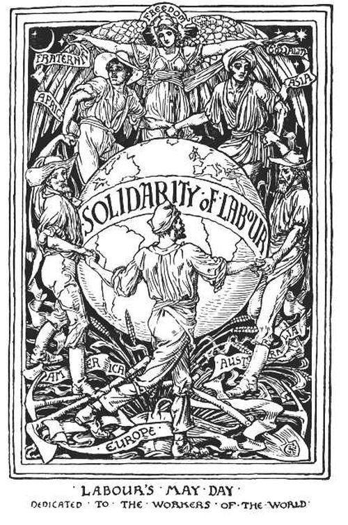 Walter Crane, Solidarity of Labour, 1889