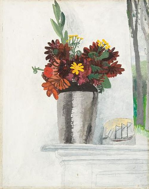 Winifred Nicholson, Autumn Flowers on Mantlepiece, 1932
