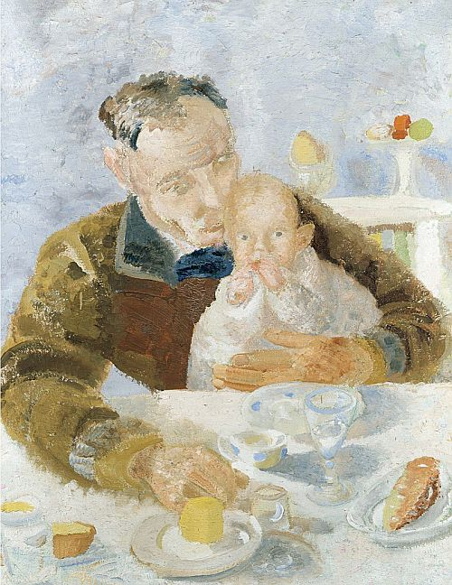 Winifred Nicholson, Father and Son, 1927