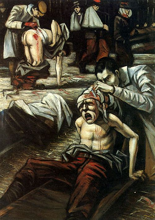 C.R.W. Nevinson, The Doctor (1916)