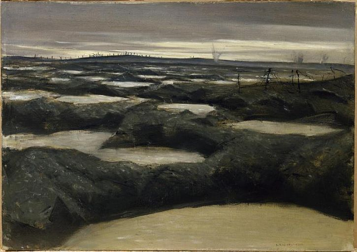 CWR Nevinson, After a Push, 1917