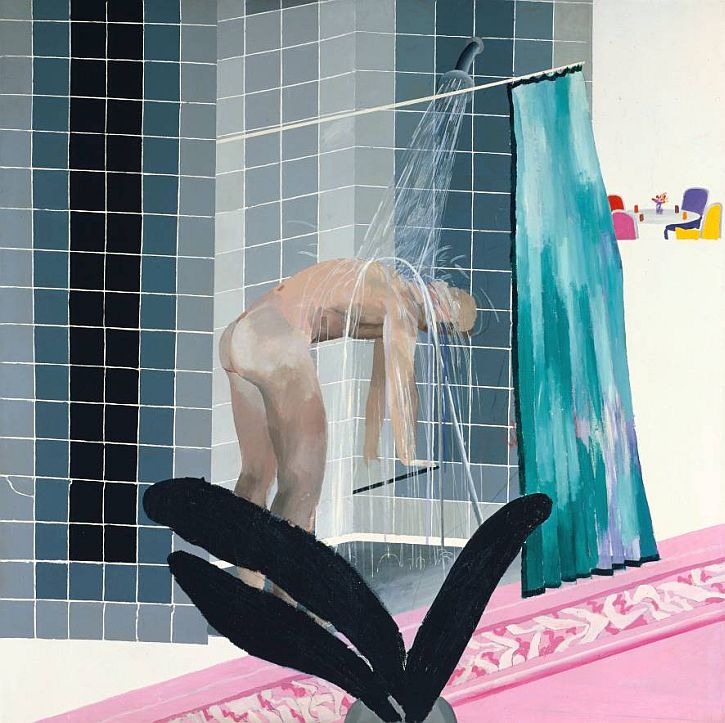Man in Shower in Beverly Hills, 1964