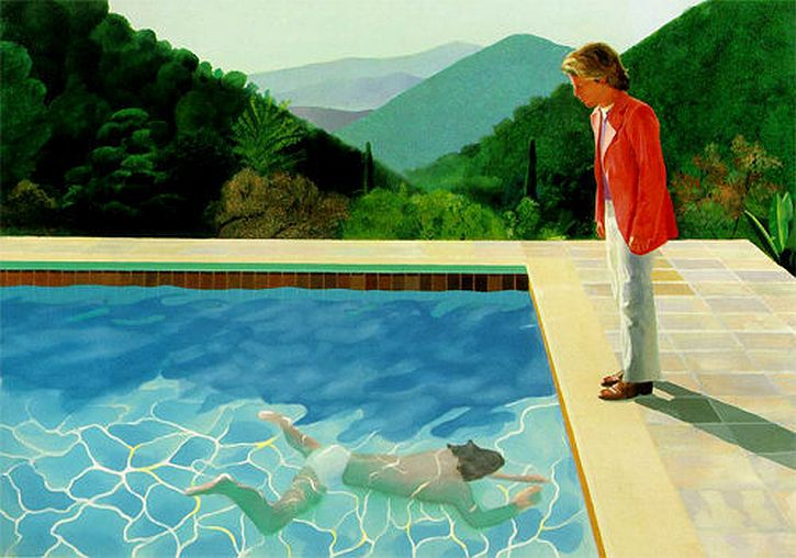 Swimming Pool Painters : David hockney early reflections at the walker that s