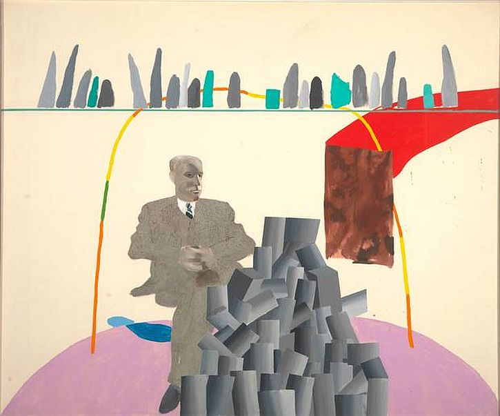 David Hockney, Portrait Surrounded by Artistic Devices, 1965