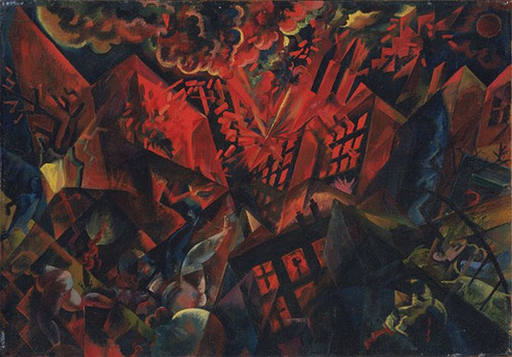 George Grosz, Explosion, 1917