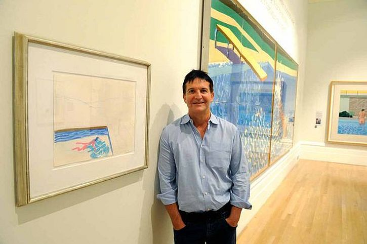 John Edwards, a Liverpool-born lawyer lent his Hockney painting to the Walker Art Gallery