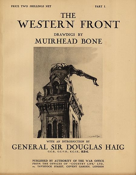 Muirhead Bone, cover of The Western Front, Part 1