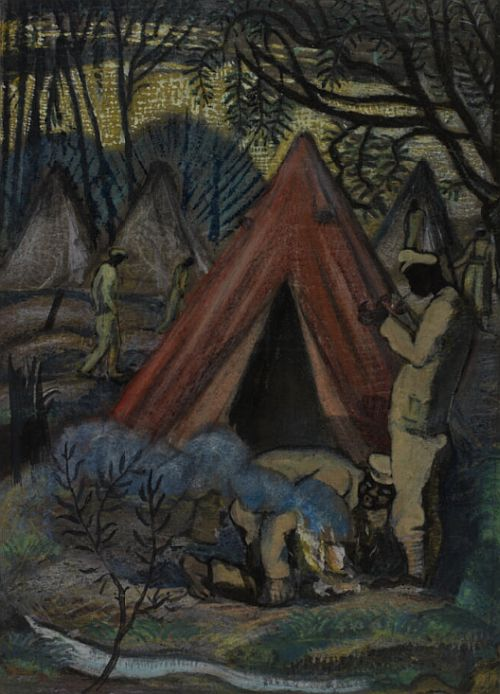 Paul Nash, Indians in Belgium, 1917