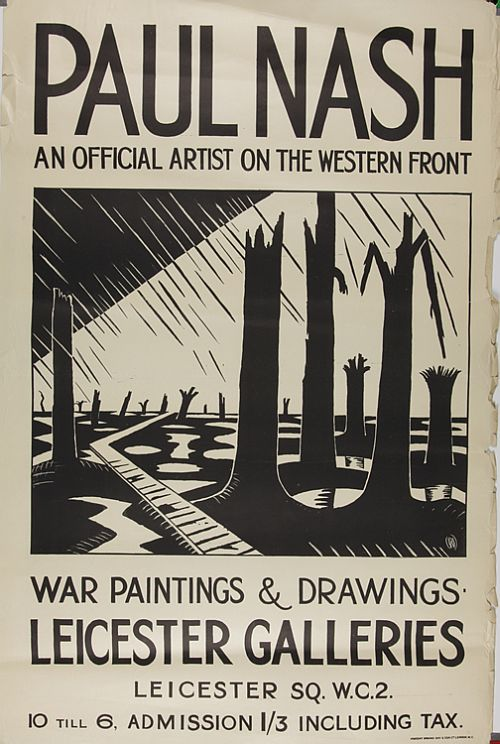 Paul Nash, Poster for Void of War Exhibition, May 1918