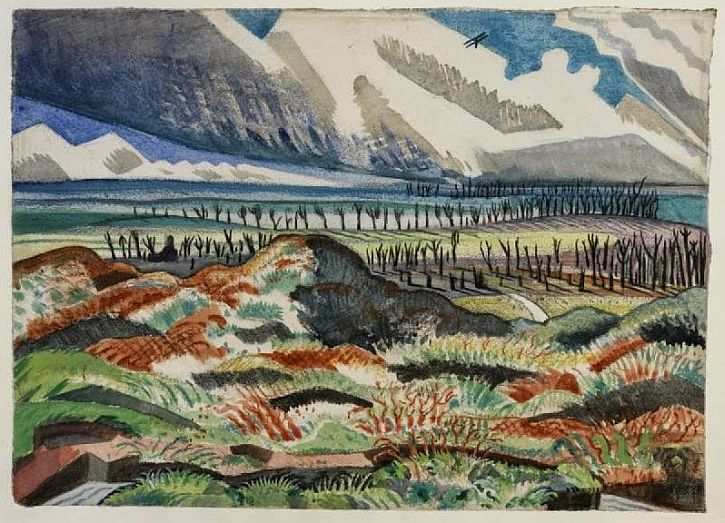 Paul Nash, Ruined Country, 1917