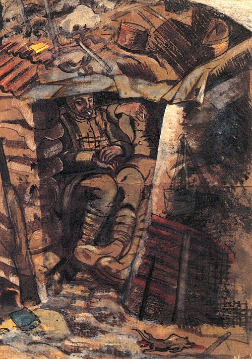 Paul Nash, Spring in the Trenches, Ridge Wood, 1917