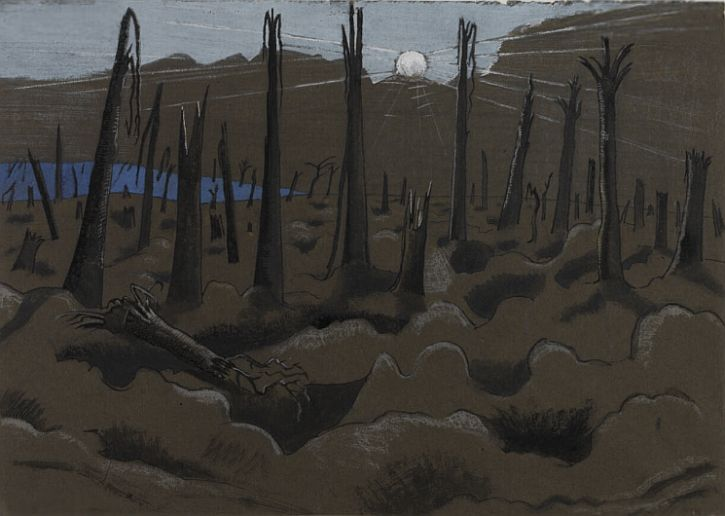 Paul Nash, Sunrise Inverness Copse, 1918