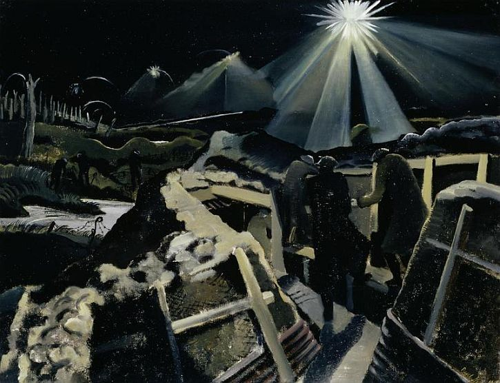 Paul Nash, The Ypres Salient at Night, 1918