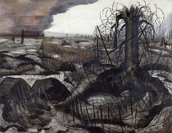 Paul Nash, Wire, 1918
