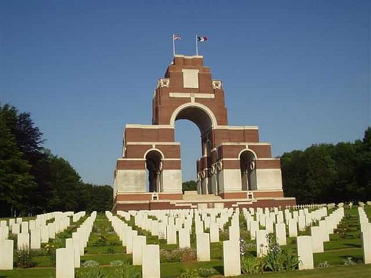 Thiepval Memorial and graves