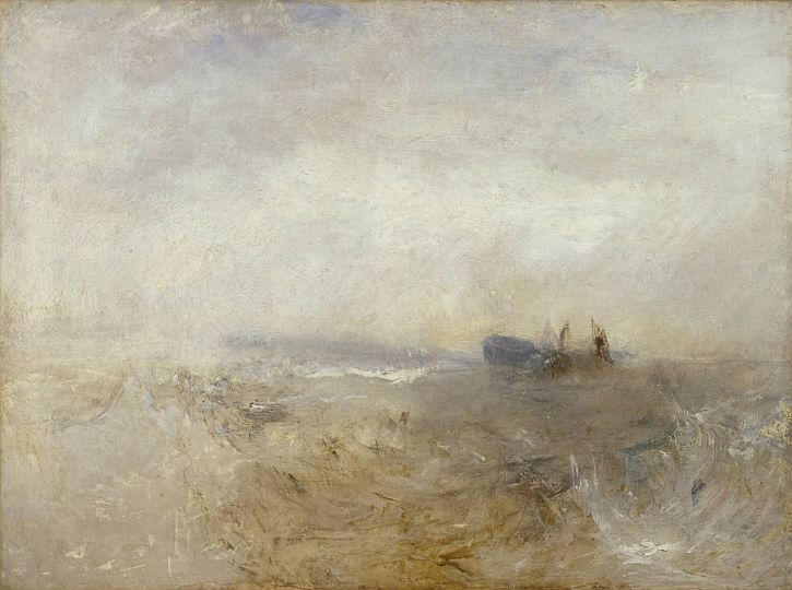 A Wreck, with Fishing Boats c.1840-5