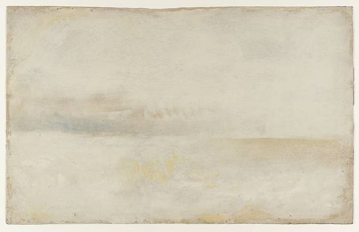 Calm Sea with Distant Grey Clouds, c1840-5