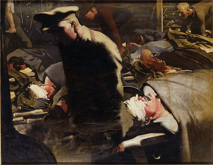 Eric Kennington, Gassed and Wounded, 1918