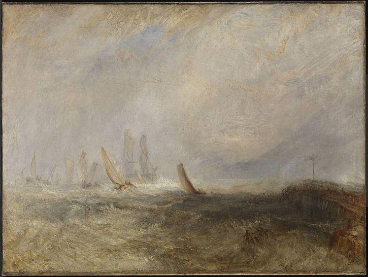 Fishing Boats Bringing a Disabled Ship into Port Ruysdael, 1844