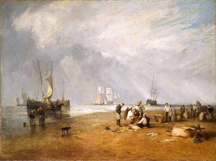 Fishmarket on the Sands - Hastings, 1810