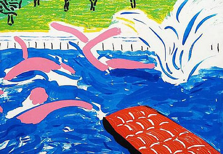 Hockney Afternoon Swimming, 1980