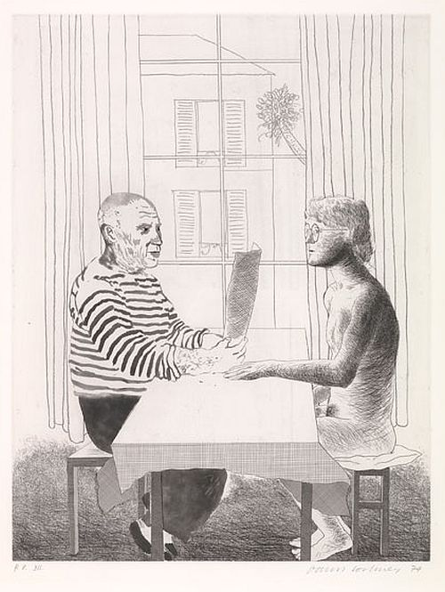 Hockney Artist and Model, 1973