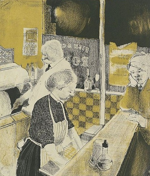 Hockney Fish and Chip Shop, 1954