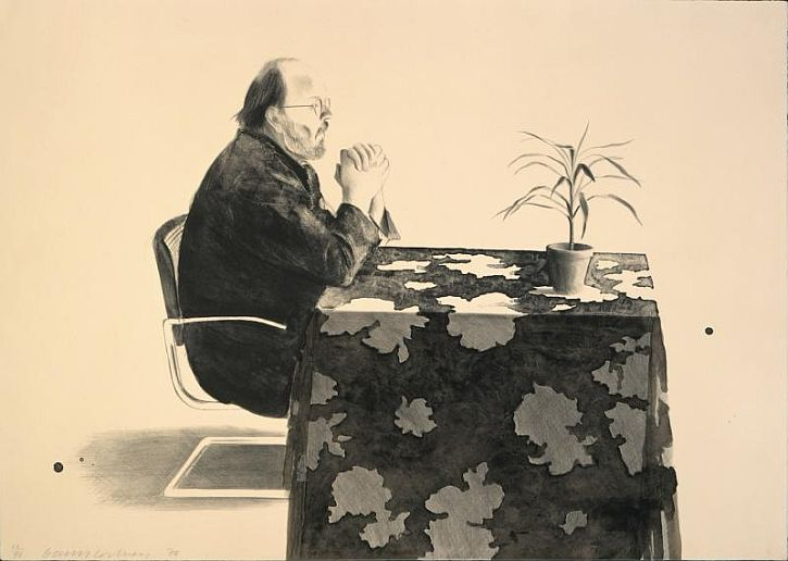 Hockney Henry At the Table, 1976