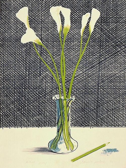 David Hockney: Lilies (1971)