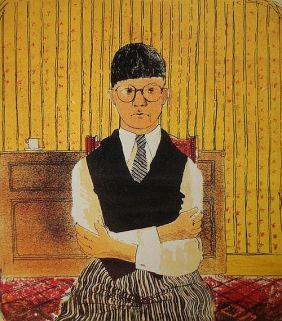 Hockney, Self-portrait, 1954