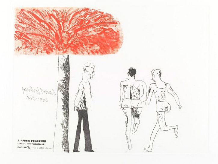 Hockney The Seven Stone Weakling, A Rake's Progress, 1961